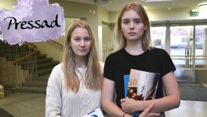 Emmy Wikström och Minerva Larjanko.