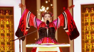Netta Barzilai på Eurovisionsscenen.