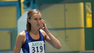 Sanna Nygård tävlar vid Botniagames 2017 i Korsholm.