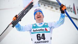 Iivo Niskanen efter VM-guldloppet 2017.