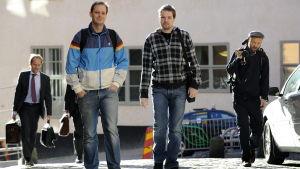 Peter Sunde Kolmisoppi (till vänster) och Fredrik Neij