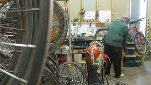 Cykelverkstad i Ekenäs