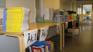 Böcker i Hangö centralskola.