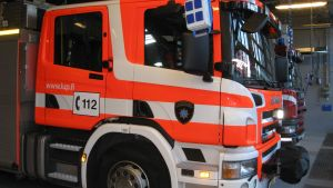 Brandbil från Västra Nylands räddningsverk