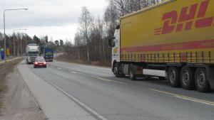 Riksväg 25 i Ekenäs.