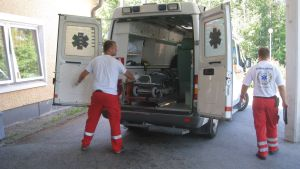 Ambulanspersonal vid akutmottagningen i Raseborg