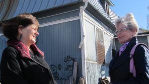 Projektledare Elina Sorainen och ordförande Anneli Sjöholm