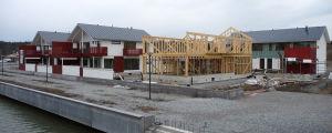 Byggprojekt på Kyrksundsstranden i Pargas.