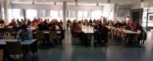 Förtroendevalda och föräldrar från S:t Karins deltog i diskussionen om framtiden för Hovirinta skolfastighet.
