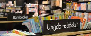 Interiör från bokhandel