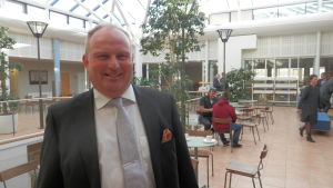 Rektor Max Gripenberg vid Optima i Jakobstad
