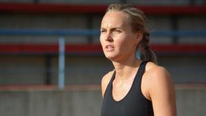 Sanna Nygård hoppar tresteg.