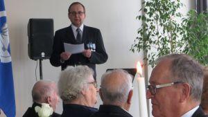 Nationella veterandagen 27.4.2016 firades i Lovisa med ett anförande där Birger Tikander berättade om sin tid som fredsbevarare på Cypern för 40 år sedan