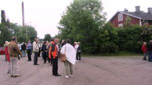 Tolkisgillet samlades till en nostalgiträff på det gamla sågområdet i Tolkis, Borgå