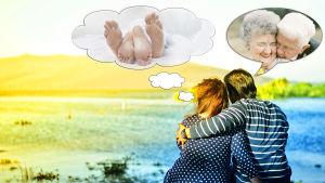 Ungt par där den ena drömmer om sex och den andra om kärlek