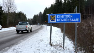 Skylt vid Kimitoöns kommungräns.