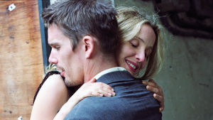 Ethan Hawke ja Julie Delpy elokuvassa Rakkautta ennen auringonlaskua