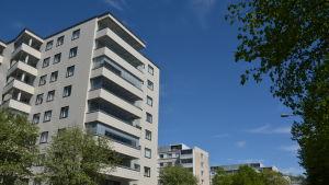 Höghus i Kuppis i Åbo.