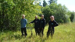 Atte Lindqvist, Jussi Roinola, Hanna Intovuori och Emilia Kankare.