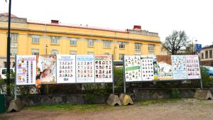 Valaffischer på Krämartorget i Borgå
