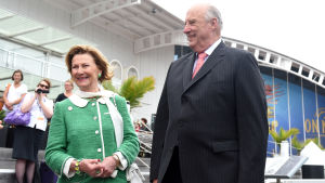 Det norska kungaparet i Australien i februari 2015.