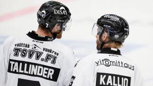 Henrik Tallinder och Tomi Kallio, TPS, hösten 2016.