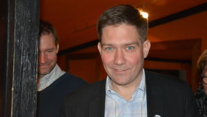 Thomas Blomqvist på valvakan 2015.