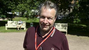 Samlingspartiets riksdagsledamot Ilkka Kanerva på Suomi Areena i Björneborg 10.7.2016.