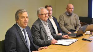Hilding Mattsson, Tony Lökfors, Markku Partanen och Juuso Hämäläinen.