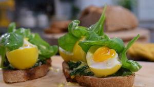 Lyxmacka med ägg