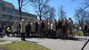Runebergskören på valborg