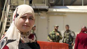 Läraren Samia Al-Jaberi vid Cordobaskolan i Hebron