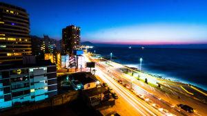 Strandvägen i Antofagasta, Chile.
