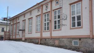 Byggnad på Sirkkala skolas gård