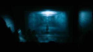 Tuomas A.Laitinen, Deep Time Séance: Contamination, Kiasma-teatteri, 18.10.2015. Kuratointi: Jenni Nurmenniemi (HIAP – Frontiers in Retreat), valokuva: Salla Lahtinen.
