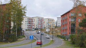 det nya bostadsområdet Hassellunden i trakterna av tasträsk i sibbo