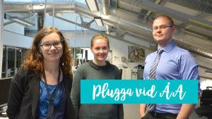 Anna Sell, Amanda Hannuksela och Roland Engström