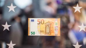 ECB presenterade den nya 50-eurosedeln i juli 2016.
