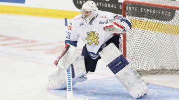 Mikko Koskinen i Matchen mot USA på 3 maj i Helsingfors.