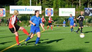FC Lovisa mot Kouvolan Sudet på Varuboden-Osla Arenan.