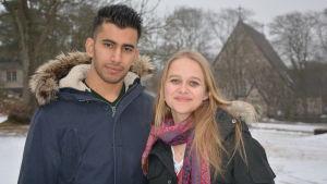 Mirjam Granström och Anmar från Irak