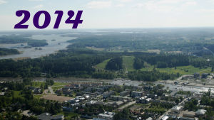 Flygfoto över Borgå.