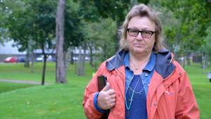 Gunilla Törnblom, ordförande för Lovisa trädgårdsförening