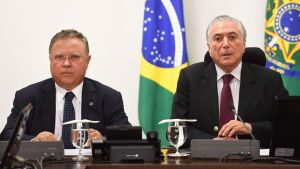 Brasiliens jordbruksminister Blairo Maggi och president Michel Temer