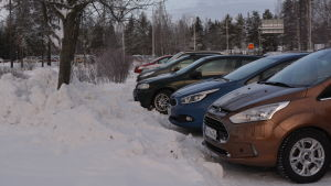 Borgå sjuhus parkeringsåplats