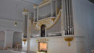 Orgeln i Ekenäs kyrka.