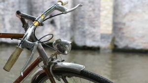 Brun cykel