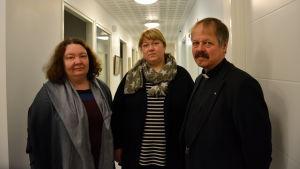 Maria Lindell, Carina Westberg och Guy Kronqvist.