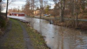 Högt vatten i Lammala bäck