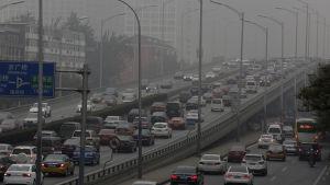 Smog i Peking.